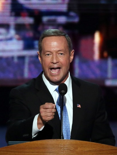 Maryland, Gov. Martin O'Malley speaks during day one of the Democratic National Convention at Time Warner Cable Arena on September 4, 2012 in Charlotte, North Carolina. (Alex Wong/Getty Images)