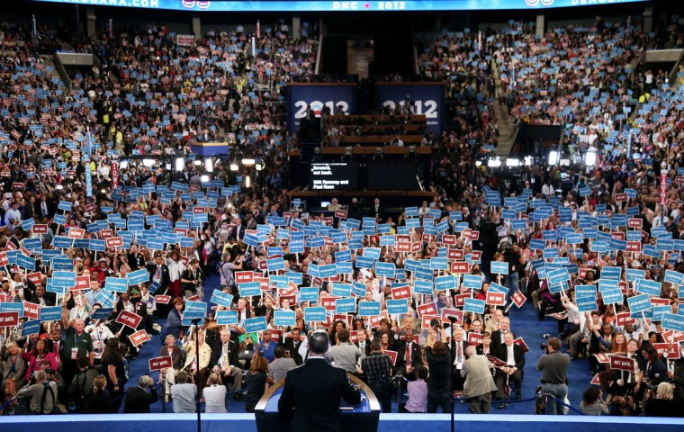 Maryland, Gov. Martin O'Malley speaks during day one of the Democratic National Convention at Time Warner Cable Arena on September 4, 2012 in Charlotte, North Carolina. The DNC that will run through September 7, will nominate U.S. President Barack Obama as the Democratic presidential candidate. (Win McNamee/Getty Images)