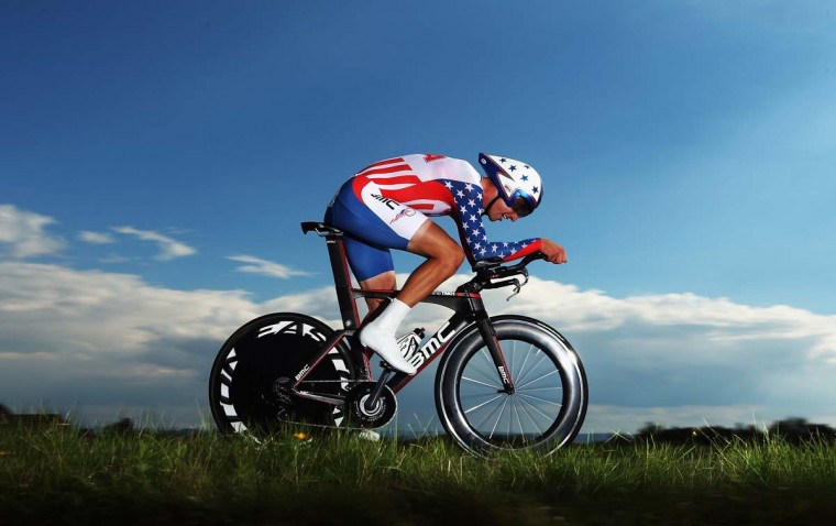 Taylor Phinney of the USA in action on his way to 2nd place in the Elite Men's Time Trial on day four of the UCI Road World Championships in Valkenburg, Netherlands. (Bryn Lennon/Getty Images)
