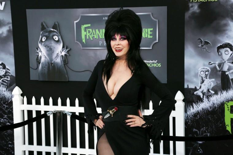 "Actress Cassandra Peterson attends the Premiere Of Disney's ""Frankenweenie"" at the El Capitan Theatre on September 24, 2012 in Hollywood, California. (Frederick M. Brown/Getty Images)"
