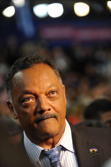 Reverend Jesse Jackson is seen on the floor at the Time Warner Cable Arena in Charlotte, North Carolina, on September 4, 2012 on the first day of the Democratic National Convention (DNC). (Robyn Beck/AFP/Getty Images)