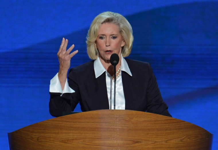 Women's rights activist Lilly Ledbetter speaks to the audience at the Time Warner Cable Arena in Charlotte, North Carolina, on September 4, 2012 on the first day of the Democratic National Convention (DNC). (Stan Honda/AFP/Getty Images)