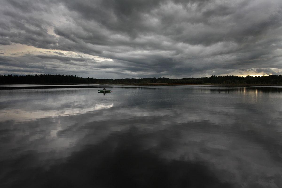 Resultado de imagen de anochecer nublado