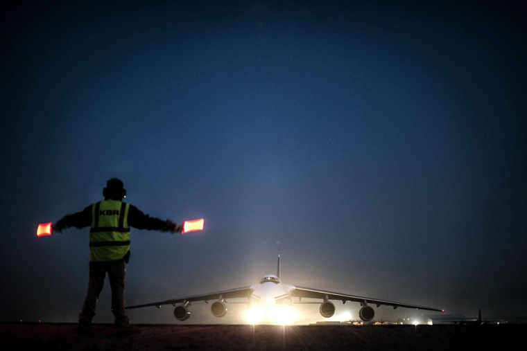 An Antonov aircraft loaded with French army vehicles prepares to take off from KAYA airport in Kabul. France is the fifth largest contributor to NATO's International Security Assistance Force (ISAF), which is due to pull out the vast majority of its 130,000 troops by the end of 2014. (Jeff Pachoud/AFP/Getty Images)