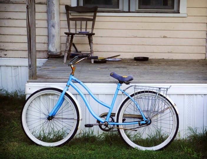 A somewhat rusty bicycle sits in front of a house in Tylerton on Smith Island. Bicycles are a common form of transportation on the town of Tylerton on Smith Island. (Barbara Haddock Taylor/Baltimore Sun)