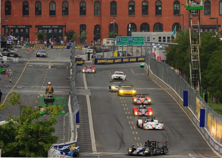 Shown is the start of the ALMS race and the crowd enjoying the festival of speed. (Gene Sweeney, Jr./Baltimore Sun)