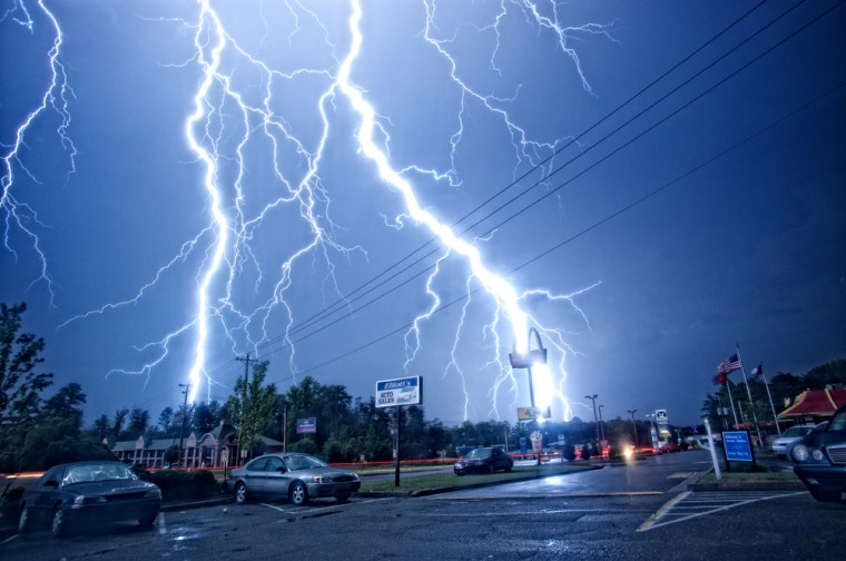 Storm strikes Bowling Green, Va. (Photo Credit: Jamie Betts)