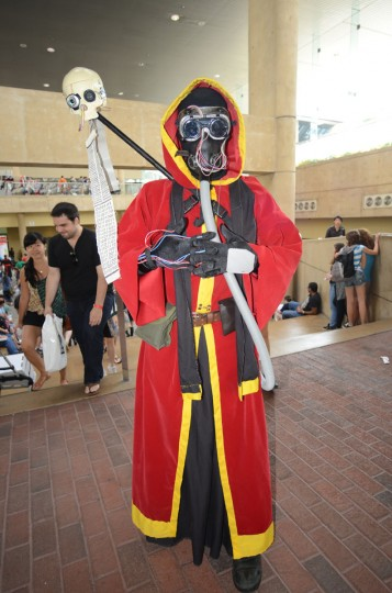 "Michael Couchenour, 29, of Baltimore ""blessed"" the con as a tech priest from Warhammer 40,000. (Credit: J.M. Giordano)"