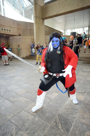 Emily Silvest, 31, of Northern Virginia, came prepared as Nocturne, daughter of Nightcrawler of the X-Men. Silvest is a member of the East Coast Avengers, a costume play group. (Credit: J.M. Giordano)