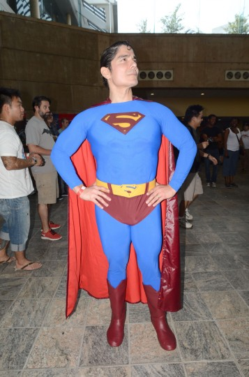 "The ""real"" Superman George Reeves Torres stands for ""truth, justice and the American way."" (Credit: J.M. Giordano)"