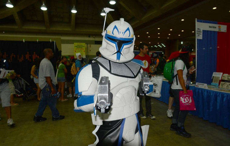A Clone warrior is ready to defend the Empire. (Credit: J.M. Giordano)