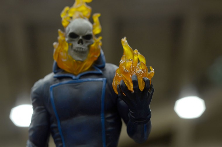 A detailed Ghost Rider sculpture. (Credit: J.M. Giordano)