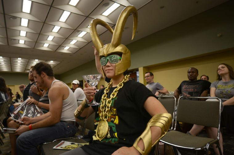 Pimp Loki chills at the Marvel Comics Now forum. (Credit: J.M. Giordano)