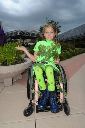 Budding Poison Ivy (Skye Hagthverdi, 10) takes in some fresh air. (Credit: J.M. Giordano)