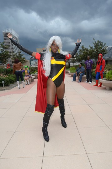 Storm (Maki Rolle, 22) of the X-Men brings the storm… to Baltimore. (Credit: J.M. Giordano)