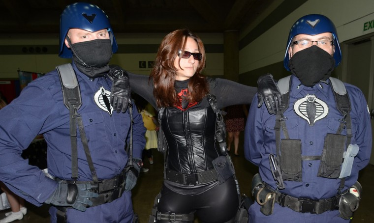 The Baroness never travels without her C.O.B.R.A security detail. (Credit: J.M. Giordano)