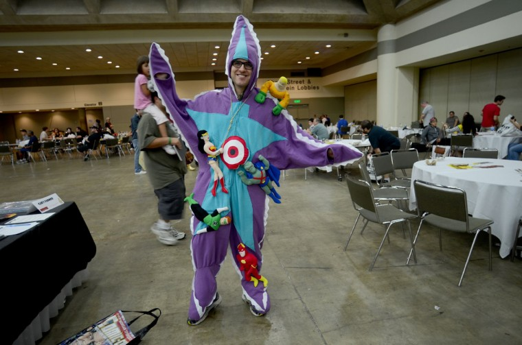 Starro (Will Romine, 28, of Atlanta) is the Justice League of America's first villain. (Credit: J.M. Giordano)