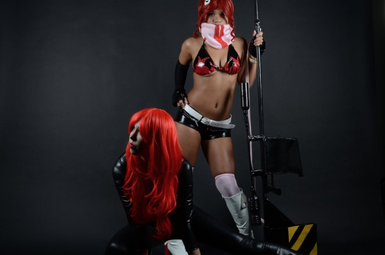 Gabrielle Sparks, 16, of Bowie as Black Widow and Maryse Zwolak, 15, of Bowie as Yoko Littner (Credit: J.M. Giordano)