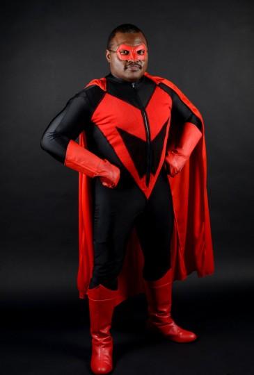Maximumman, aka 42-year-old Dwayne Johnson of Baltimore (Credit: J.M. Giordano)