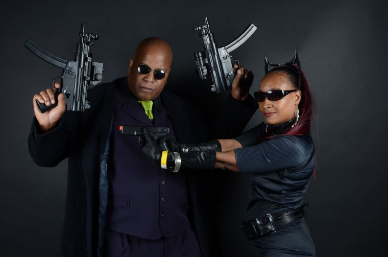 Morpheus (Ed Brunson of Baltimore) and Dark Knight Catwoman (Angela Pitts, 31, also of Baltimore) (Credit: J.M. Giordano)