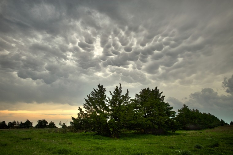 Mammatus cloud in Kansas. (Photo Credit: Jamie Betts)