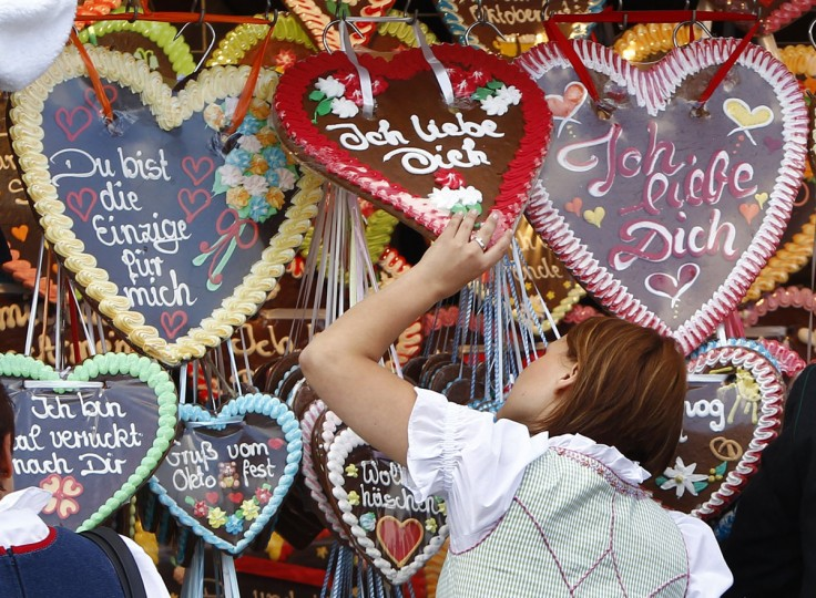 A woman looks at the traditional ginger bread on sale at the famous Oktoberfest in Munich. Millions of beer drinkers from around the world will come to the Bavarian capital for the 179th Oktoberfest, which runs until October 7, 2012. (Michaela Rehle/Reuters)