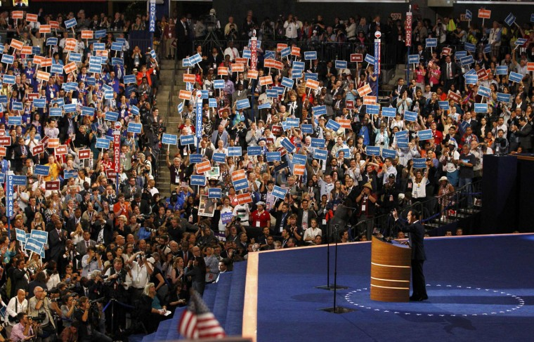 Julian Castro, Mayor of San Antonio, Texas, delivers the keynote address during the first day of the Democratic National Convention in Charlotte, North Carolina, September 4, 2012. (Chris Keane/Reuters)