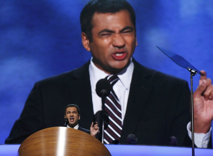 Actor Kal Penn addresses the 2012 Democratic National Convention in Charlotte, North Carolina, September 4, 2012. (Jim Young/Reuters)