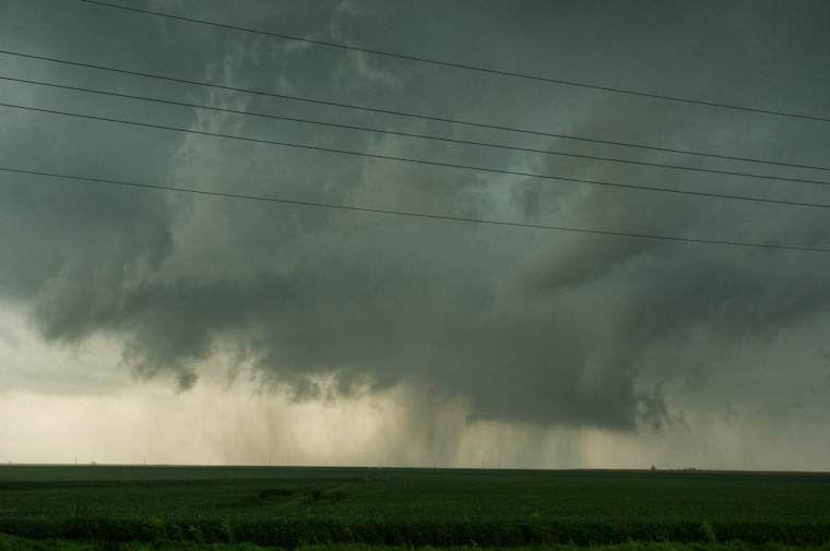 Wall cloud in Kansas. (Photo Credit: Jamie Betts)