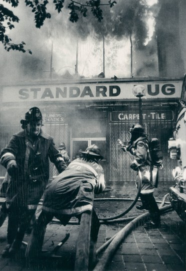 April 21, 1982 - Standard Rug is destroyed by fire. (Baltimore Sun archives)