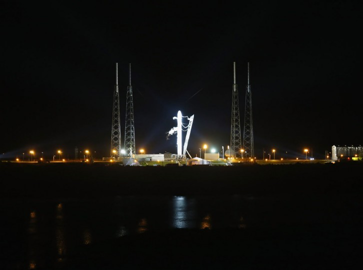 October 7, 2012: SpaceX Falcon 9 rocket attached to the cargo-only capsule called Dragon lifts off from the launch pad in Cape Canaveral, Florida. (Joe Raedle/Getty Images)