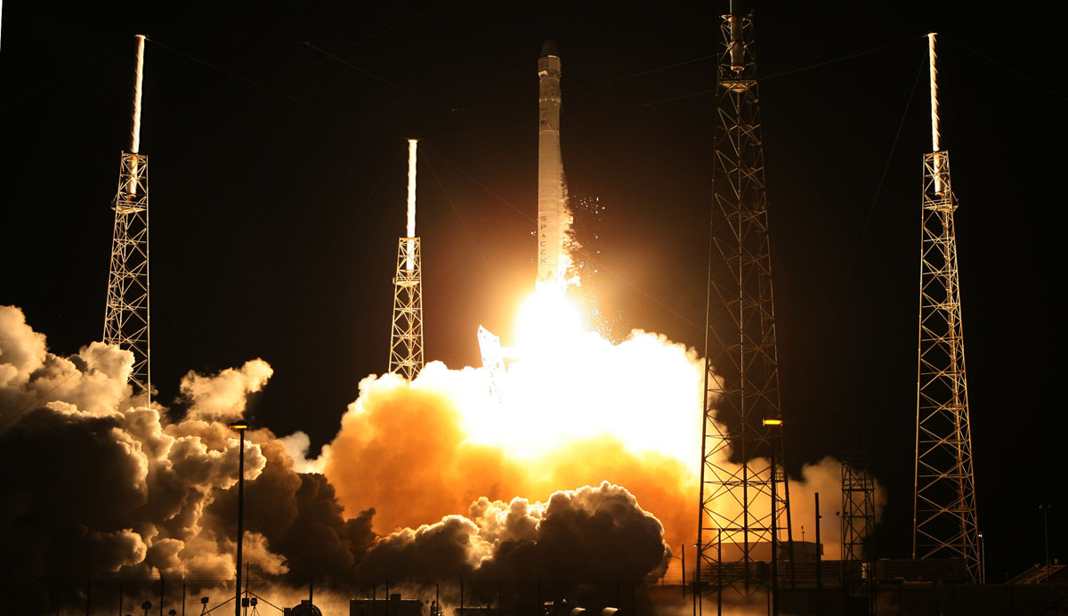 SpaceX successfully launches first International Space Station re-supply mission