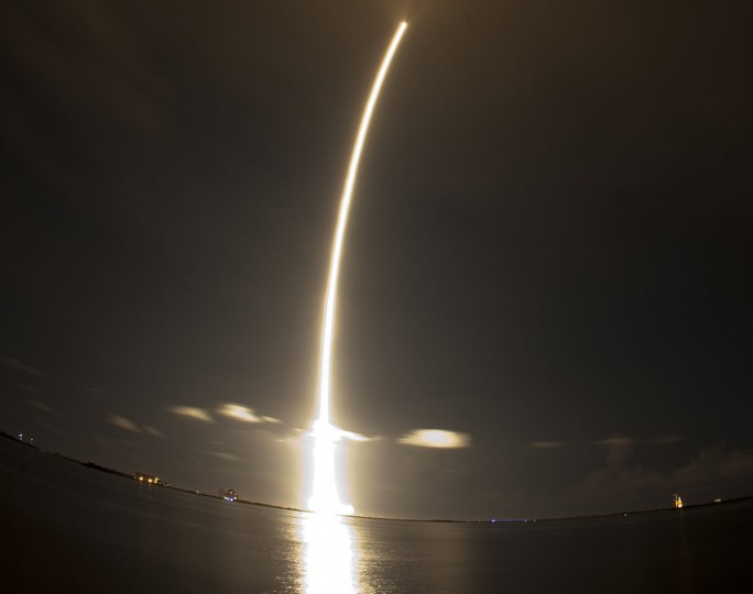 October 7, 2012: The SpaceX Falcon 9 rocket lifts off from Space Launch Complex 40 at the Cape Canaveral Air Force Station in Cape Canaveral, Florida. (Michael Brown/Reuters)