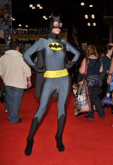 A Comic Con attendee wearing a Batman costume poses during the 2012 New York Comic Con at the Javits Center in New York City. (Daniel Zuchnik/Getty Images)