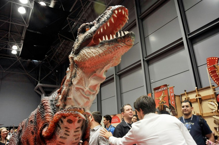 General atmosphere during the 2012 New York Comic Con at the Javits Center in New York City. (Daniel Zuchnik/Getty Images)