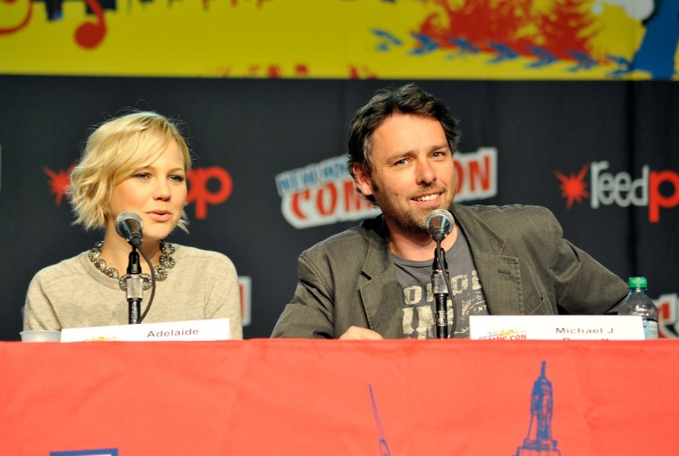 Adelaide Clemens and Michael J. Bassett attend the 2012 New York Comic Con in New York City. (Daniel Zuchnik/Getty Images)