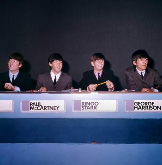 "The Beatles (L-R), John Lennon, Paul McCartney ,Ringo Starr and George Harrison in 1964, in London. The Beatles' debut tune that launched Britain into the Swinging Sixties and helped to ignite a worldwide obsession for the four-man band from Liverpool celebrates its 50th birthday on October 5, 2012. Even though it only peaked at number 17 on the British charts, the single ""Love Me Do"" was not only the group's first record but also their first hit. (GettyImages)"