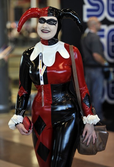 Becky Snow from England arrives for the opening session of the 2012 New York Comic Con at the Jacob Javits Center. (Timothy Clary/Getty Images)