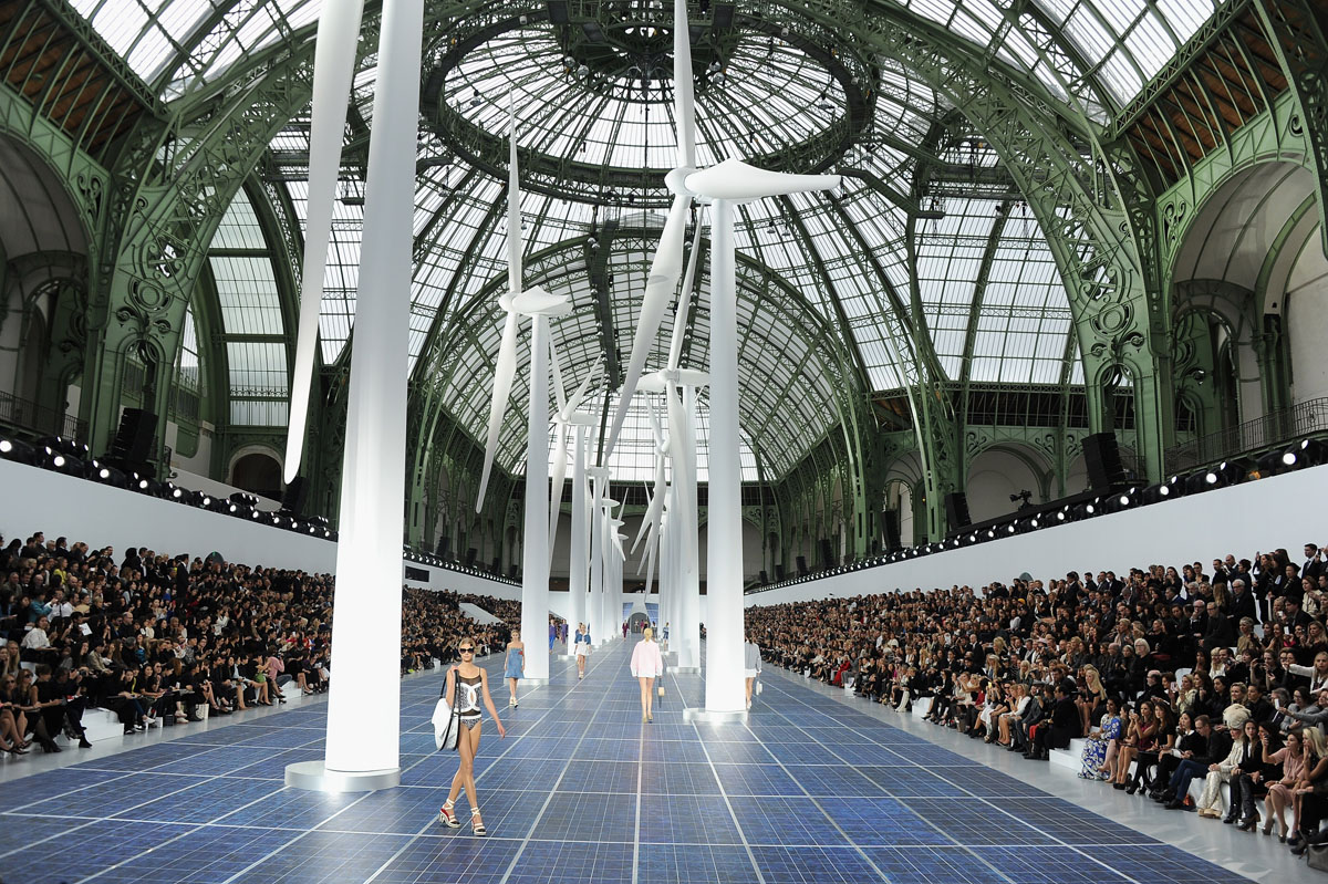 Oct 2 photo brief gandhi s 143rd birthday chanel s alternative energy runway show hong kong - Architecture shows ...