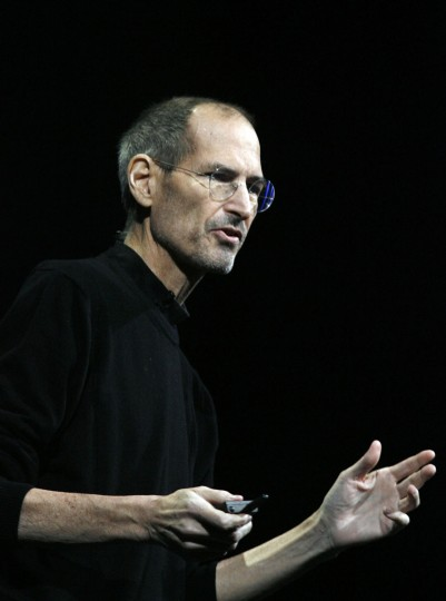 October 5, 2012: Apple paid tribute to Steve Jobs a year after his death, with a video and homage to the man who co-founded and led the iconic technology company. This file photos is from June 6, 2011 at the announcement for Mac OS X Lion, the mobile operating system iOS 5, and the internet storage service iCloud during the Apple Worldwide Developers Conference at the Moscone Center in San Francisco, California. (Kimihiro Hoshino/AFP/Getty Images)
