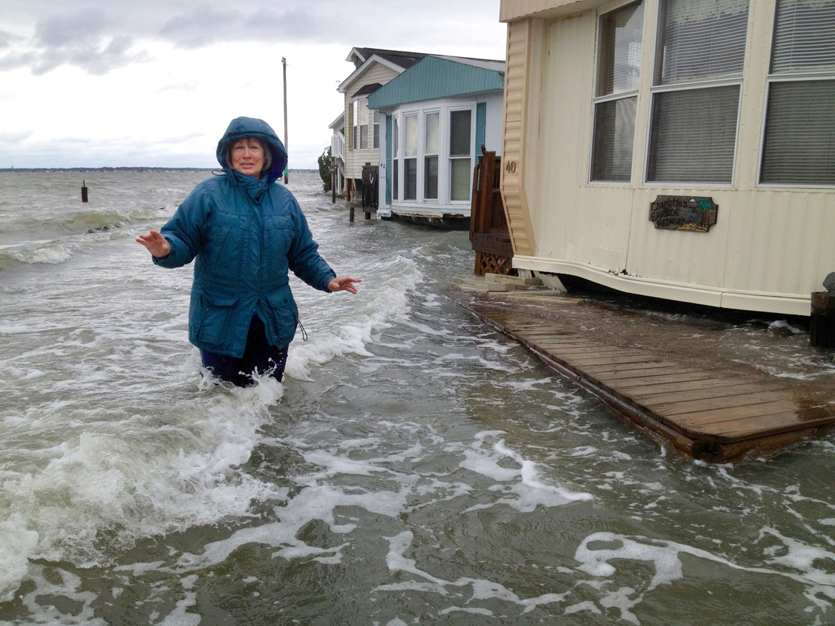 Maryland's Ocean City wakes up to Sandy damage