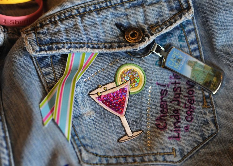 """The Stage 4 traveling jeans represents the stories of women diagnosed with metastatic breast cancer. The jeans are signed with names, dates of diagnosis and words of encouragement: """"Do not forget how strong we are,"""" and, """"We are in this together."""" (Algerina Perna/Baltimore Sun Photo)"""