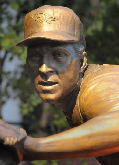 Shown is Cal Ripken Jr's sculpture in the Orioles' statue park. (Gene Sweeney Jr./Baltimore Sun)