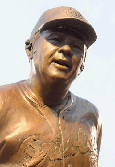 Shown is Earl Weaver's sculpture in the Orioles' statue park. (Gene Sweeney Jr./Baltimore Sun)