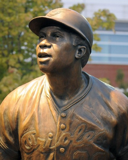 Shown is Frank Robinson's sculpture in the Orioles' statue park. (Gene Sweeney Jr./Baltimore Sun)