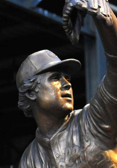 Shown is Jim Palmer's sculpture in the Orioles' statue park. (Gene Sweeney Jr./Baltimore Sun)
