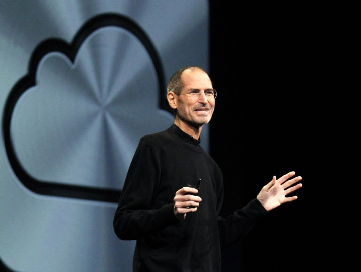 June 6, 2011: Apple CEO Steve Jobs talks about the iCloud service at the Apple Worldwide Developers Conference in San Francisco, California. (Beck Diefenbach/Reuters)