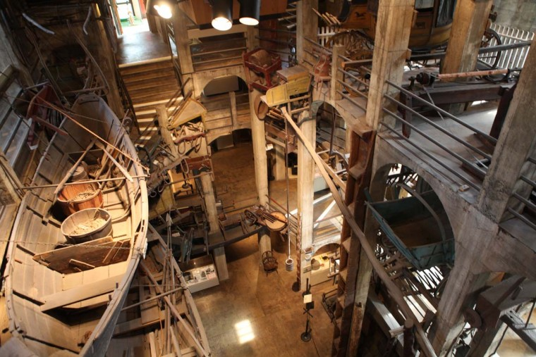 Inside the Mercer Museum. (Stokely Baksh/Baltimore Sun)