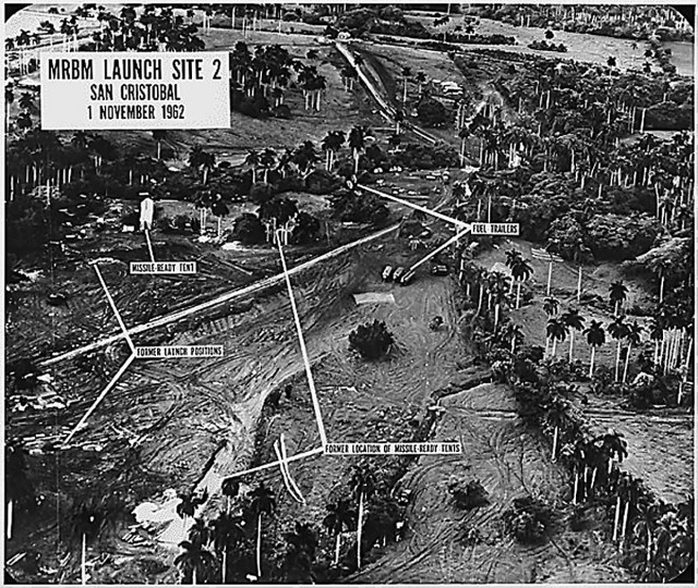 This aerial photograph from November 1962 shows a medium range ballistic missile launch site at San Cristobal, Cuba. It has been 50 years since a standoff between the U.S. and the Soviet Union over missiles in Cuba pushed the world to the brink of nuclear war. (National Archives/MCT)