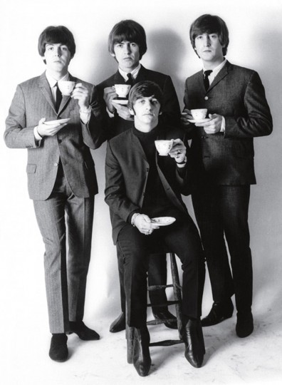 The Beatles in a formal studio setting. (Robert Whitaker/LIFE: With The Beatles)